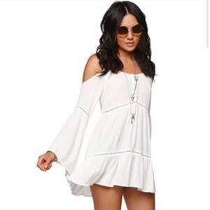 Kendall & Kylie - Peasant Top Bell Sleeves White M